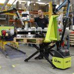 Electric Scissor Lift Pallet Truck HX10E Loading