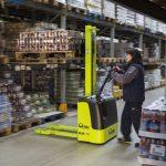 Electric Pallet Stacker Truck 1000kg Warehouse