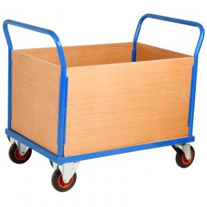 Flatbed Trolley with Sides - Image