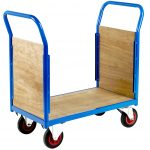 Compact Goods Trolley with Sides