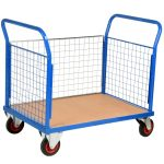 Heavy Duty Platform Truck with Mesh Sides