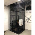 Mezzanine Goods Lift Installed