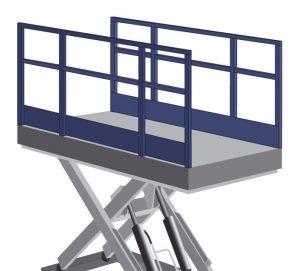 Hydraulic Platform Lift Side Barrier Rails