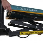 Battery Operated Mobile Lift Table 450kg Cut Off