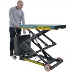 Battery Operated Mobile Lift Table 450kg Operation