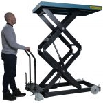 Double Scissor Lift Table 500kg Operation
