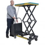 Electric Hydraulic Scissor Lift Table 125kg Operation