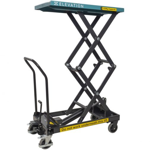Double Hydraulic High Lift Table Cart