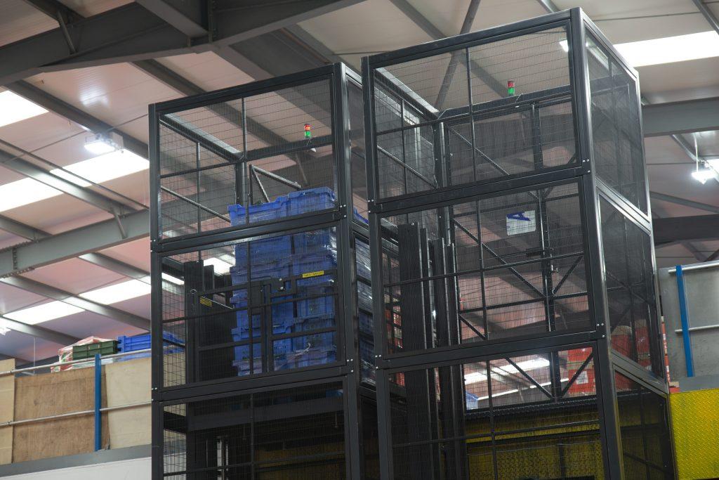 Mezzanine Goods Lift Upper Level Loaded